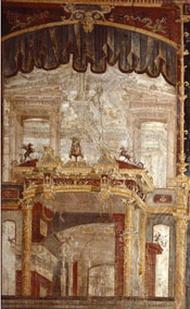 Detail of fresco from the Palaestra, Herculaneum. Photograph copyright Pedicini, 2007.